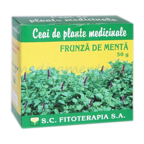 Fitoterapia Ceai Menta, Ceai, 50g