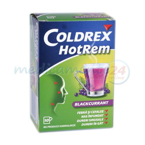 Coldrex Hotrem Blackcurrant Plicuri 5g, Pulbere,10buc