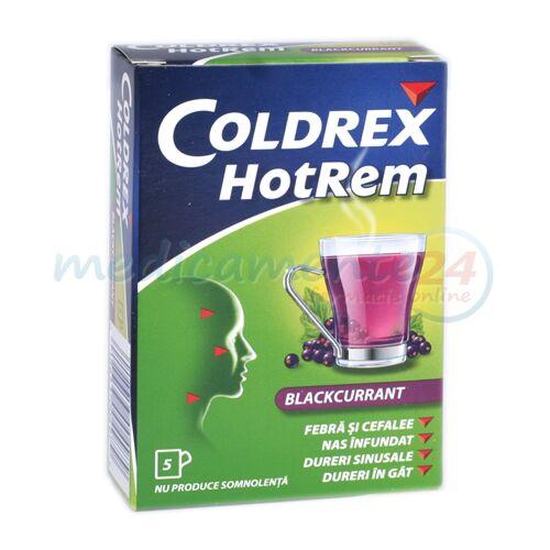 Coldrex Hotrem Blackcurrant Plicuri 5gr, Pulbere,5buc