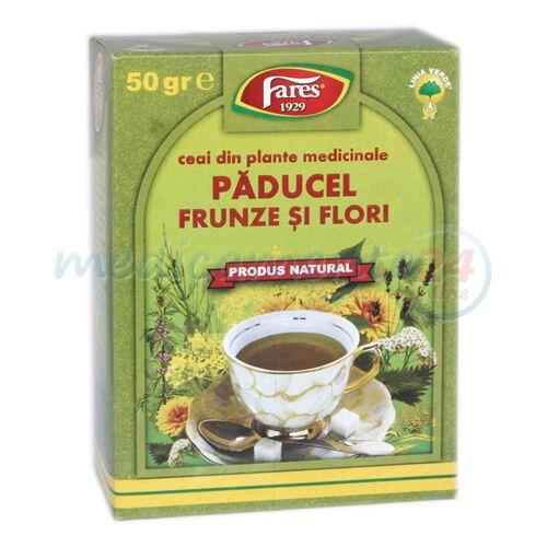 FARES Ceai Paducel Frunze cu Flori, Punga, 50g
