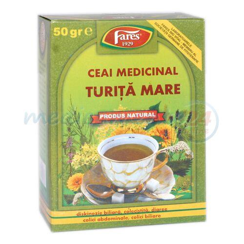 FARES Ceai Turita Mare Iarba, Punga, 50g