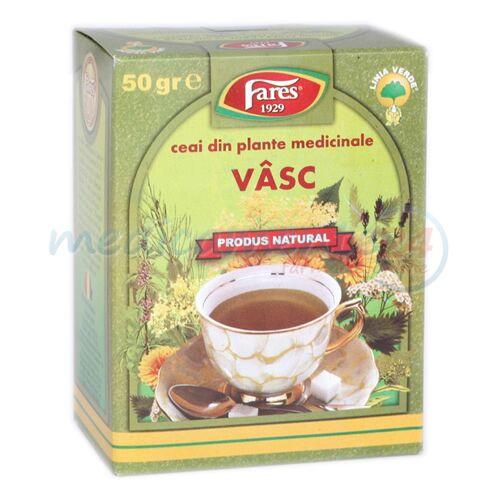 FARES Ceai Vasc Frunze, Punga, 50g