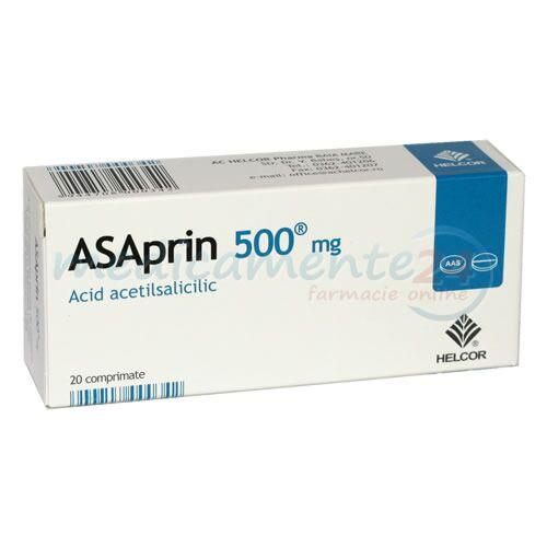 Asaprin 500mg Comprimate, Comprimate, 20buc