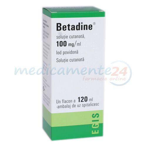 Betadine 100mg/ml Solutie, Solutie, 120ml