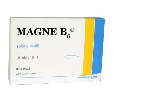 Magne B6 Fiole 10ml, Fiole, 10buc