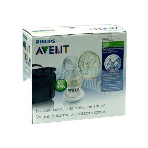 AVENT Pompa Manuala Pentru San - 0% BPA - Set De Calatorie, Kit, 1buc