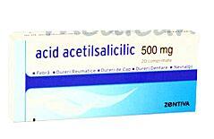 Acid Acetilsalicilic 500mg Tablete, Tablete, 20buc