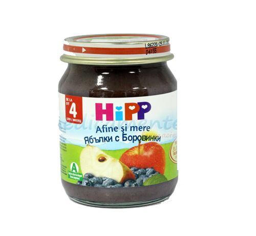 Hipp Mere Si Afine Piure, Piure, 125g