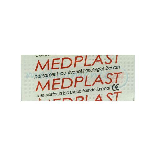 Medplast Pansament Cu Rivanol 2cm x 6cm, Pansament, 1buc