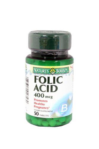 Nature's Bounty Acid Folic 400mcg Capsule, Capsule, 50buc