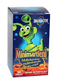 Minimartieni Imunactiv Capsune Comprimate, Comprimate, 50buc