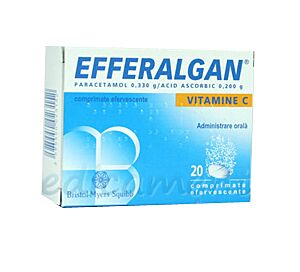 Efferalgan Vit C Comprimate Efervescente, Comprimate Efervescente, 20buc