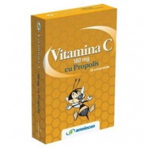Vitamina C + Propolis Comprimate180mg Adulti, Comprimate, 20buc