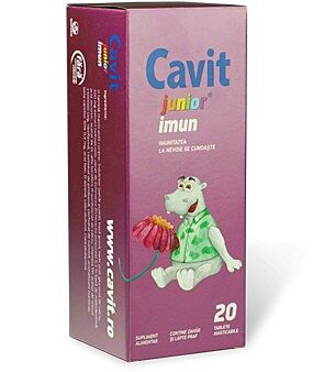 Cavit Junior Imun 20 Tablete Masticabile