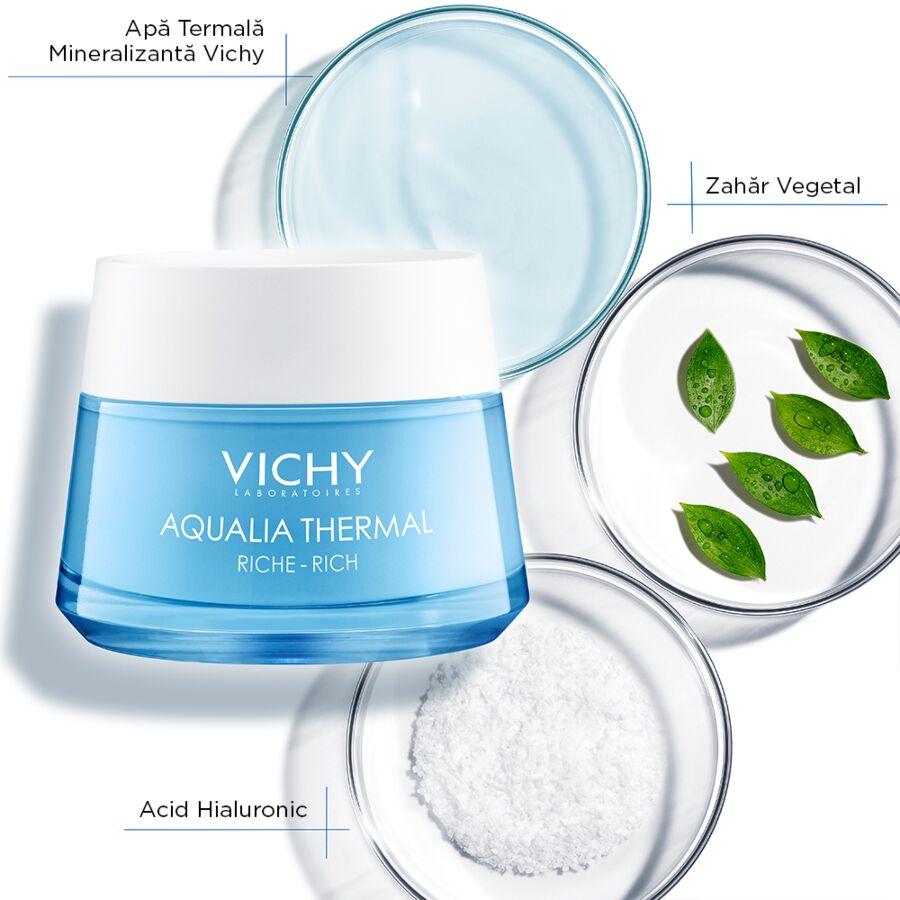 VICHY Aqualia Thermal Crema Rehidratanta  pt Ten Uscat si foarte Uscat, Crema, 50ml
