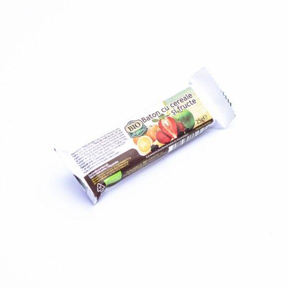 ALL GREEN BIO Baton cu Cereale si Fructe, Baton, 25g