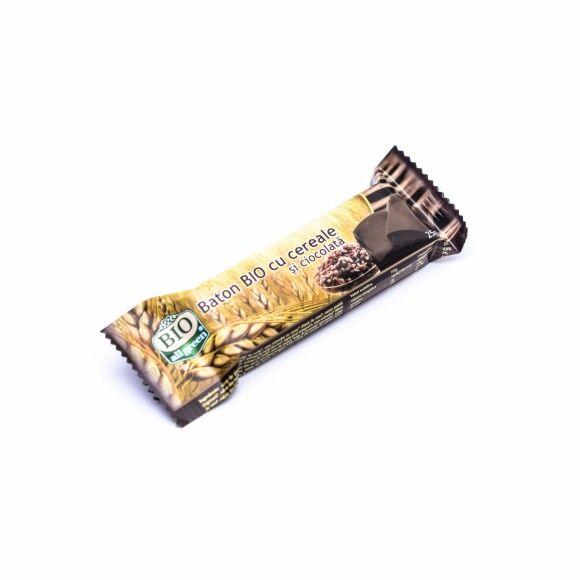 ALL GREEN BIO Baton cu Cereale si Ciocolata, Baton, 25g