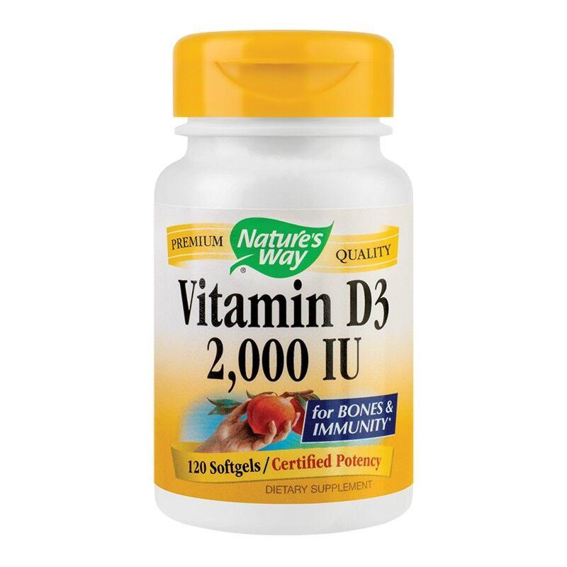 Secom Vitamina D3 2000UI Adulti Capsule Gelatinoase, Capsule, 120buc