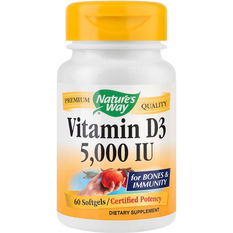 Secom Vitamina D3 5000UI Adulti Capsule Gelatinoase, Capsule, 60buc