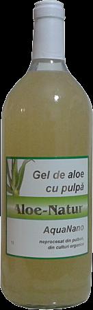 Aghoras Aloe Vera cu Pulpa, Suc,1 L