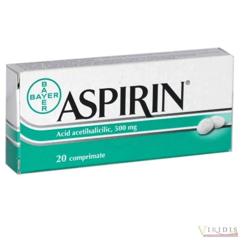 Aspirin 500mg Comprimate, Comprimate, 20buc
