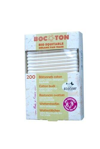 Betisoare de Urechi Bio Bocoton, 200 buc