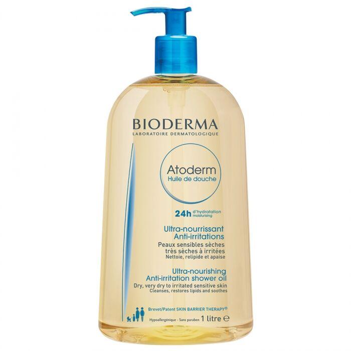 Bioderma Atoderm  Ulei De Dus + Vanity Case Trusa Cosmetice CADOU ,Ulei,1000 ml