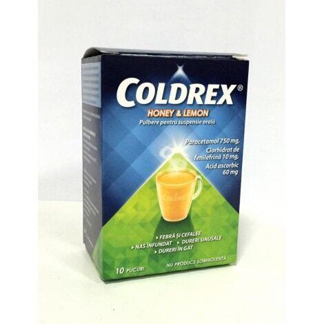 Coldrex Miere & Lamaie Pulbere, Plicuri, 10buc