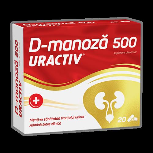 Uractiv D-Manoza 500mg Capsule, Capsule, 20buc