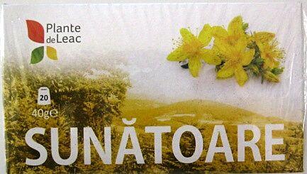 Plante de Leac Ceai De Sunatoare Plicuri, Plicuri, 20buc