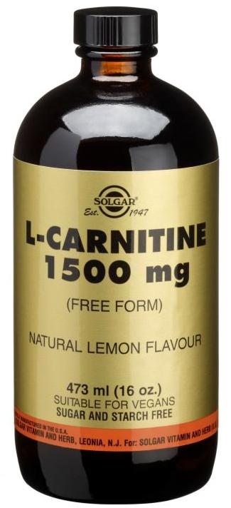 L-Carnitine 1500mg Solgar, Lichid, 437ml