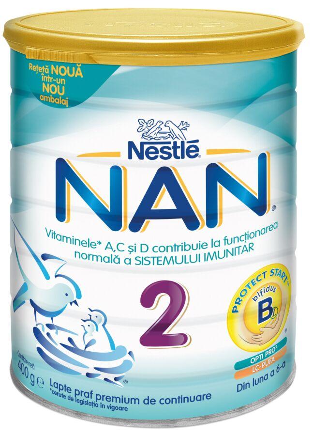 NESTLE Nan 2 Lapte, Lapte Praf, 400g