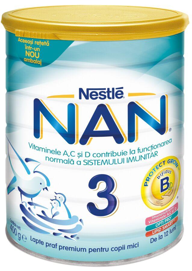 NESTLE Nan 3 Lapte, Lapte Praf, 400g