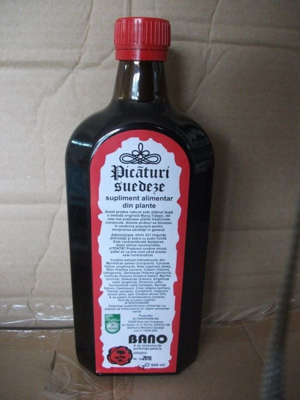Parapharm Picaturi Suedeze 500 ml , Bitter, 1buc