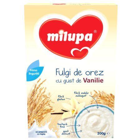 Milupa Fulgi De Orez Cu Gust De Vanilie , Cereale 200g