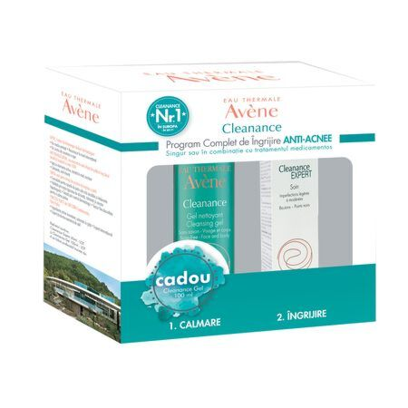 Pachet Avene Cleanance Expert Emulsie, 40ml + Cleanance Gel ,100ml CADOU