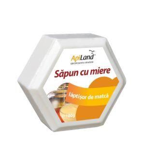 Apiland Sapun Cu Miere Si Laptisor De Matca, Sapun, 100 gr