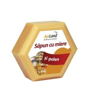 Apiland Sapun Cu Miere Si Polen, Sapun, 100 Gr