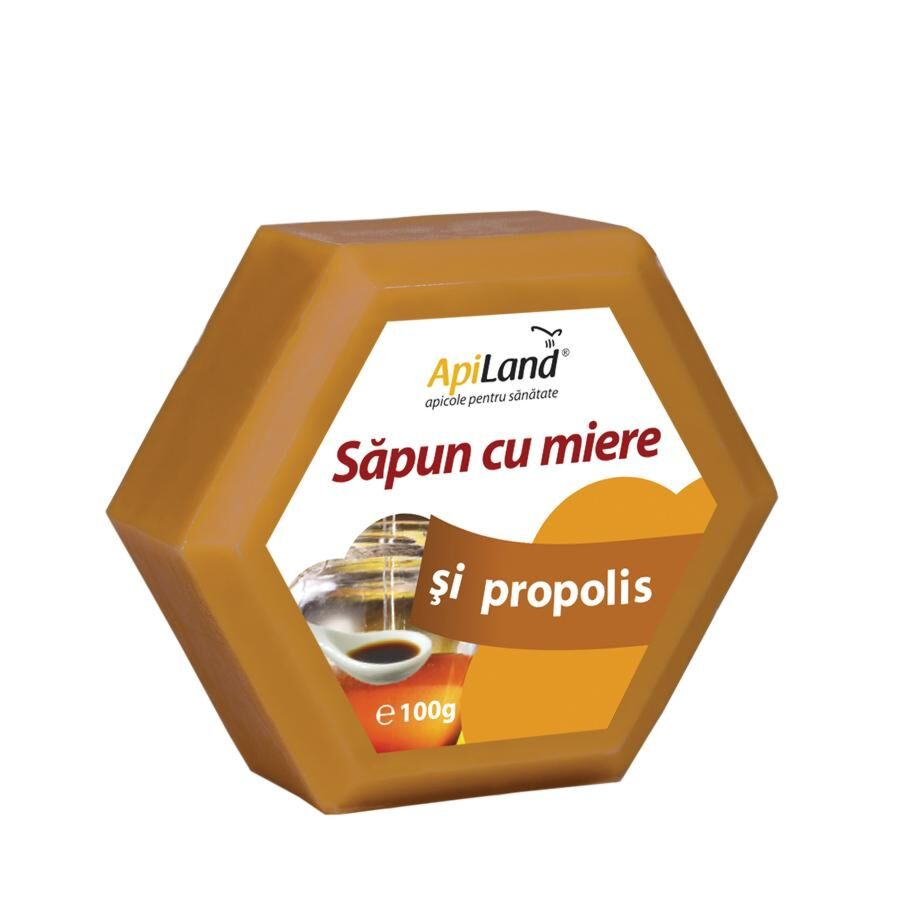 Apiland Sapun Cu Miere Si Propolis, Sapun, 100 gr