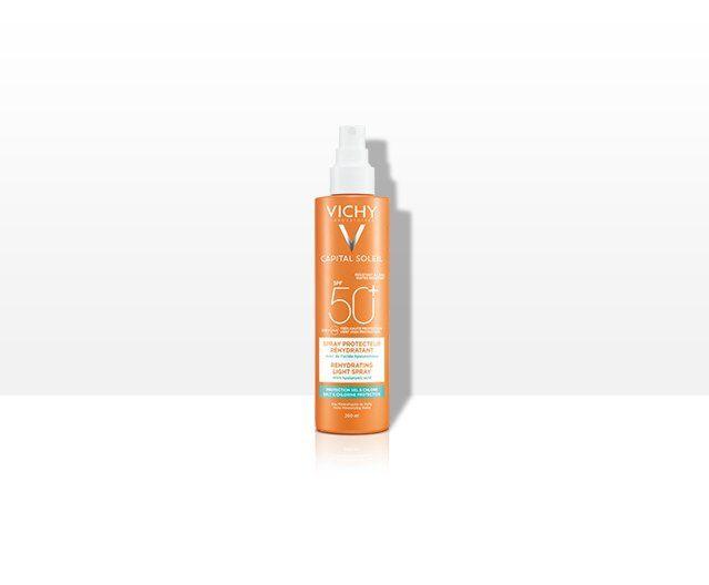 Trusa Capital Soleil Spray Hidratant SPF50+ + Lapte Gel Dupa Plaja 100ml