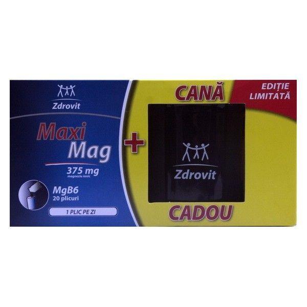 Zdrovit MaxiMag Plicuri +Cana Cadou ,20 buc,  Plicuri